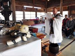 日本寺庙举行机器狗葬礼