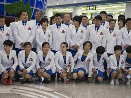 朝鲜代表团启程 远征里约