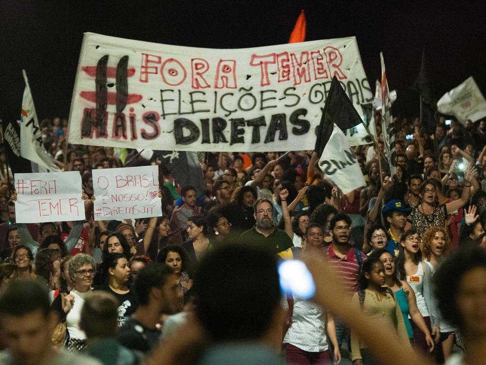 库尼亚与特梅尔均属巴西社会民主党,库尼亚是去年劳工党总统罗塞夫弹劾案的主要推手。罗塞夫被弹劾后,特梅尔就任总统。(图源:VCG)