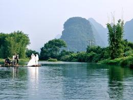 桂林阳朔遇龙河畔的世外桃源