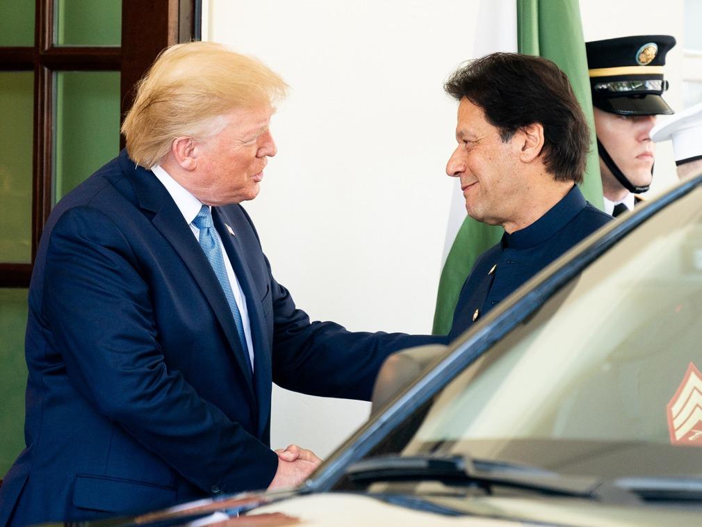 巴基斯坦总理访美 特朗普称一周就可打下阿富汗[图集]