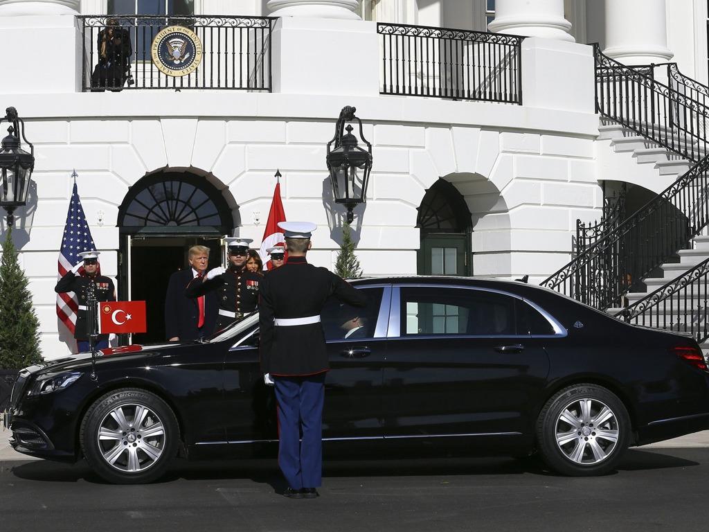 特朗普会晤埃尔多安难弥分歧 重申驻军叙利亚原因[图集]